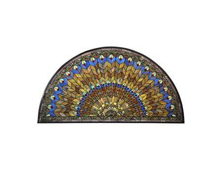 Meyda Tiffany Jeweled Peacock Stained Glass Window