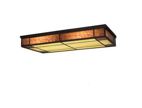 Meyda Tiffany Polaris Oblong Three-Light Flush Mount Light