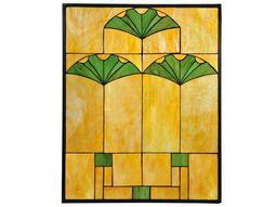 Meyda Tiffany Ginko Stained Glass Window