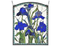 Meyda Tiffany Iris Arched Stained Glass Window