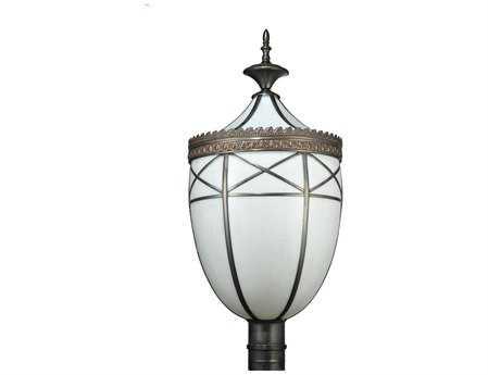 Meyda Tiffany Borough Hall Outdoor Post Mount Light
