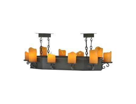 Meyda Tiffany Carpathian Oblong Ten-Light Island Light