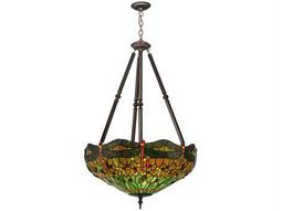 Meyda Tiffany Hanginghead Dragonfly Five-Light Inverted Pendant Light