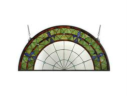 Meyda Tiffany Fleur-De-Lis Stained Glass Window