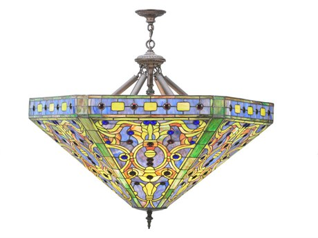 Meyda Tiffany Elizabethan Five-Light Inverted Pendant Light
