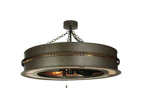 Meyda Tiffany Golden Forge Eight-Light Chandel-Air