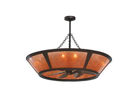 Meyda Tiffany Van Erp Amber Mica Eight-Light Chandel-Air