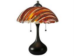 Meyda Tiffany Metro Fusion Marina Glass Multi-Color Table Lamp