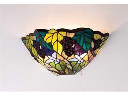 Meyda Tiffany Spiral Grape Two-Light Wall Sconce