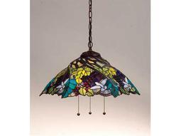 Meyda Tiffany Spiral Grape Three-Light Pendant Light