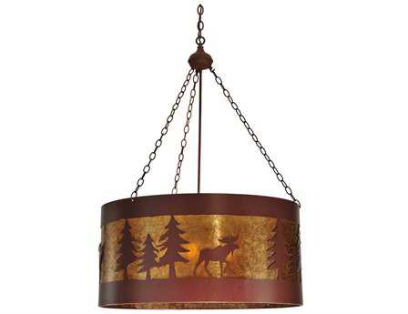 Meyda Tiffany Moose On The Loose Four-Light Pendant Light