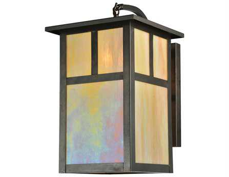 Meyda Tiffany Hyde Park T Mission Curved Arm Outdoor Wall Light