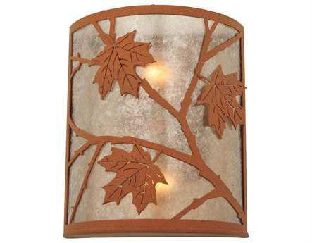 Meyda Tiffany Maple Leaf Two-Light Wall Sconce