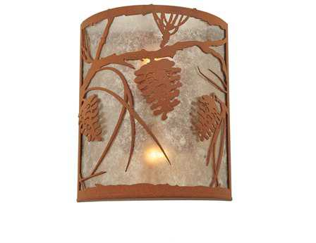 Meyda Tiffany Whispering Pines Two-Light Wall Sconce