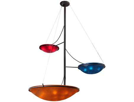 Meyda Tiffany Metro Fusion The Third Dimension Arm Glass 3 Tier 14-Light 86 Wide Grand Chandelier