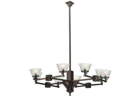 Meyda Tiffany Summer Wheat Gas Eight-Light 48 Wide Grand Chandelier