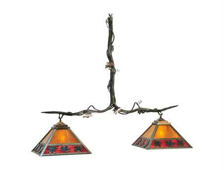 Meyda Tiffany Maple Leaf Two-Light Island Light