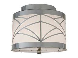Meyda Tiffany Cilindro Deco Two-Light Flush Mount Light