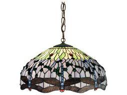 Meyda Tiffany Hanginghead Dragonfly Three-Light Pendant Light