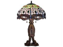 Meyda Tiffany Hanginghead Dragonfly Multi-Color Table Lamp