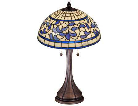 Meyda Tiffany Turning Leaf Multi-Color Table Lamp