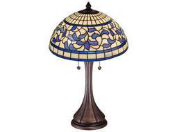 Meyda Tiffany Turning Leaf Multi-Color Table Lamp