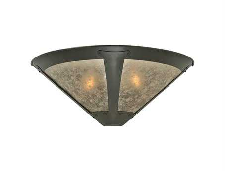 Meyda Tiffany Van Erp Silver Mica Two-Light Outdoor Wall Light