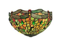 Meyda Tiffany Hanginghead Dragonfly Two-Light Wall Sconce