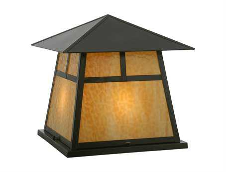 Meyda Tiffany Stillwater T Mission Beige Craftsman Four-Light Outdoor Pier Mount Light