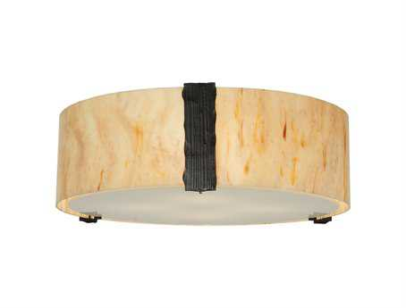 Meyda Tiffany Cilindro Faux Alabaster Four-Light Flush Mount Light