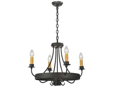 Meyda Tiffany Franciscan 4 Arm Five-Light 25 Wide Mini-Chandelier