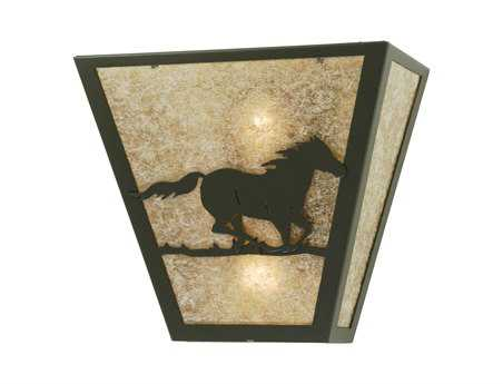 Meyda Tiffany Wild Horse Right Two-Light Outdoor Wall Light