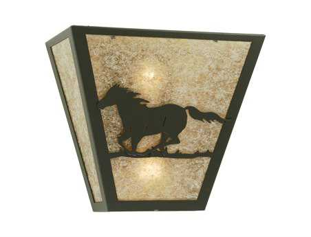 Meyda Tiffany Wild Horse Left Two-Light Outdoor Wall Light