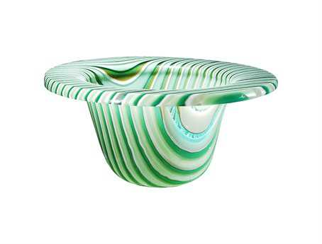 Meyda Tiffany Metro Fusion Peppermint Glass Bowl