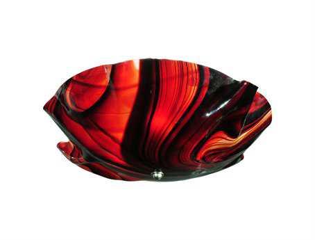 Meyda Tiffany Metro Cabernet Swirl Organic Art Glass Three-Light Flush Mount Light
