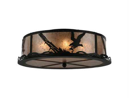 Meyda Tiffany Strike of The Eagle Four-Light Flush Mount Light