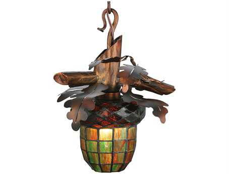 Meyda Tiffany Acorn Branch Mini-Pendant Light