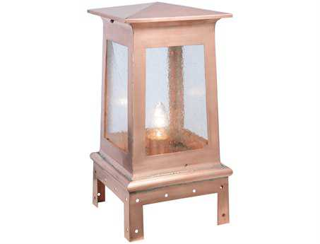 Meyda Tiffany Stillwater Prime Natural Copper Outdoor Post Mount Light