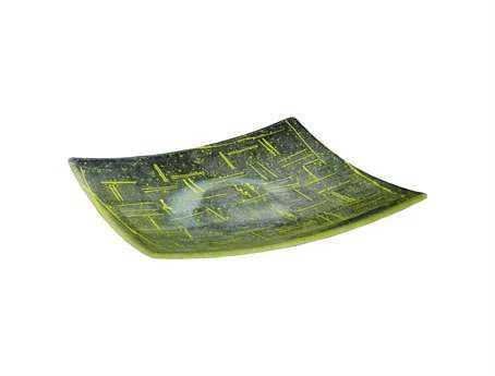 Meyda Tiffany Metro Fusion Lemon Glass Plate