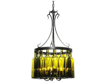 Meyda Tiffany Tuscan Vineyard Villa 16 Wine Bottle Five-Light 19 Wide Mini-Chandelier