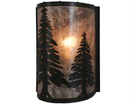 Meyda Tiffany Pine Trees Wall Sconce