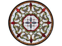 Meyda Tiffany Fleuring Medallion Stained Glass Window