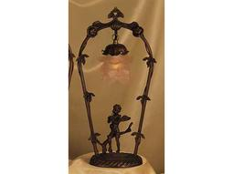 Meyda Tiffany Cherub with Violin Pink Accent Table Lamp