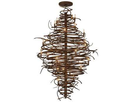 Meyda Tiffany Cyclone 28-Light 56'' Wide Chandelier