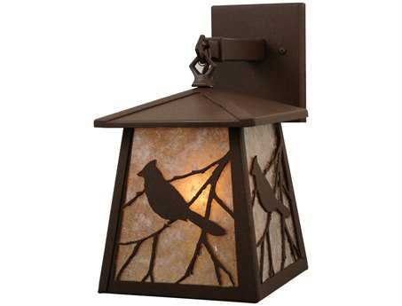 Meyda Tiffany Stillwater Song Bird Hanging Outdoor Wall Light