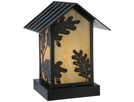 Meyda Tiffany Seneca Oak Leaf Beige Craftsman Outdoor Pier Mount Light