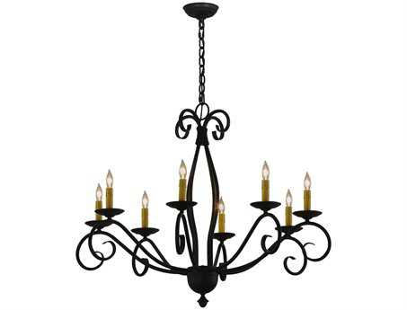 Meyda Tiffany Sienna Eight-Light 36 Wide Chandelier