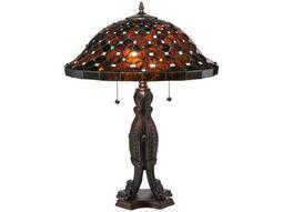 Meyda Tiffany Diamond & Jewel Multi-Color Table Lamp