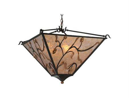 Meyda Tiffany Blossoming Branches Four-Light Inverted Pendant Light