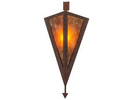 Meyda Tiffany Desert Arrow Rusty Nail 8'' Wide Wall Sconce